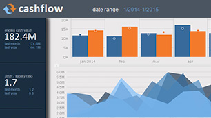 Windows Forms cashflow dashboard