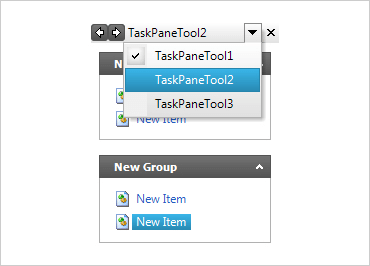 Configure the toolbar to appear as a task list in your application.