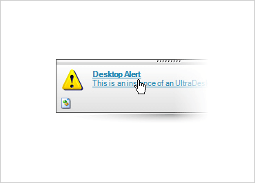 Add hyperlinked text to your desktop alert message.