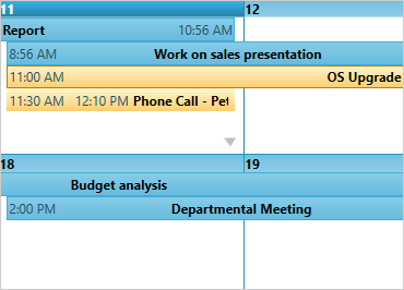 Schedule appointments that span multiple days at a time.