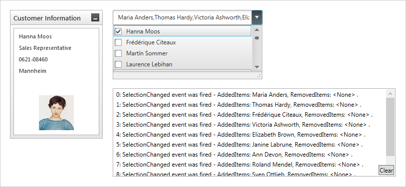 Using SelectionChanged Event